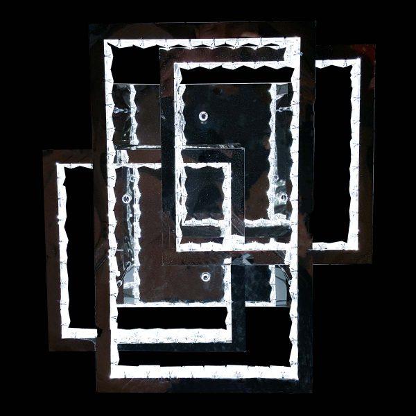 люстра лед хром прямоугольники фото