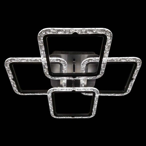Люстра лед потолочная четыре квадрата GlassQuad фото