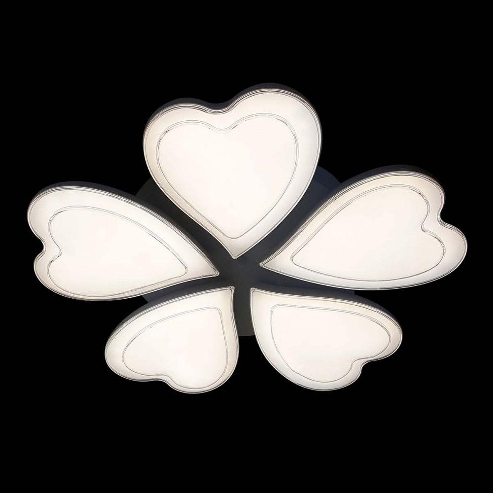 Люстра лед потолочная Сердце фото