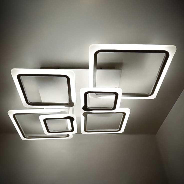 Люстра светодиодная шесть квдратов фото