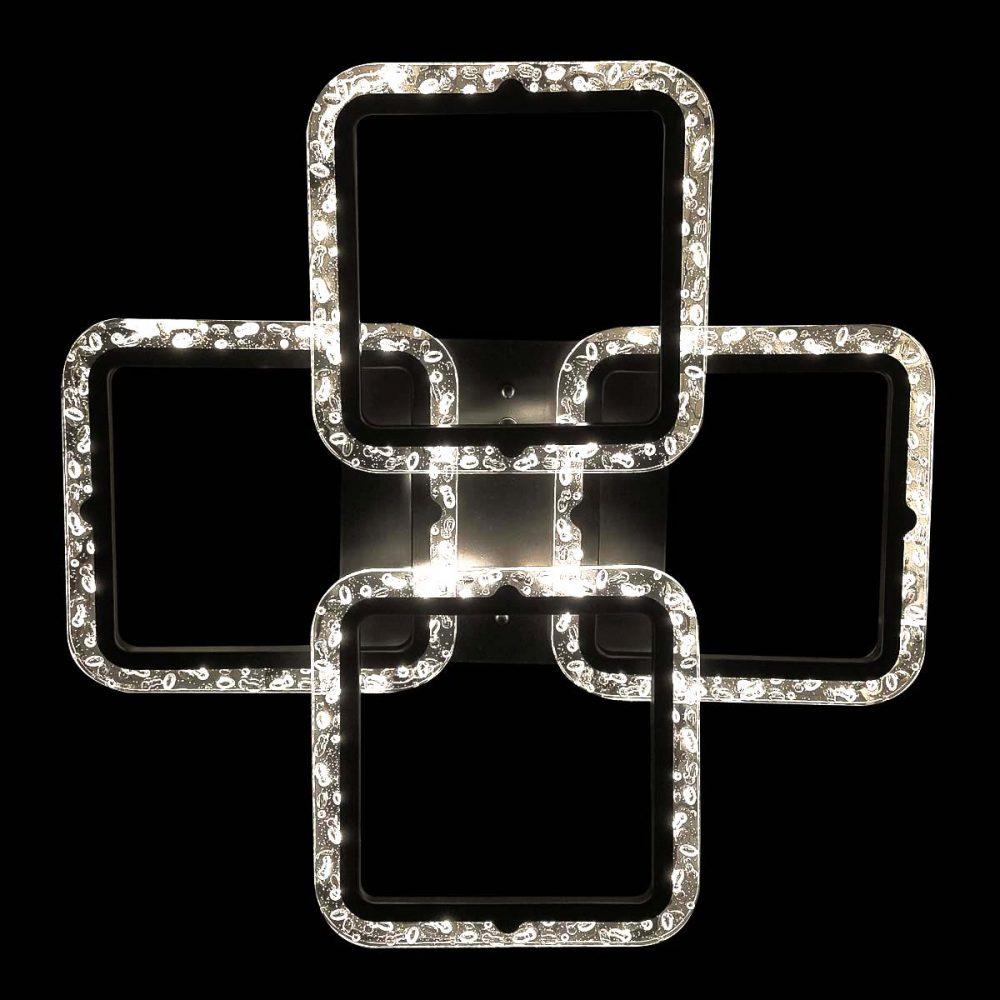 Светильник светодиодный из четырех квадратов фото
