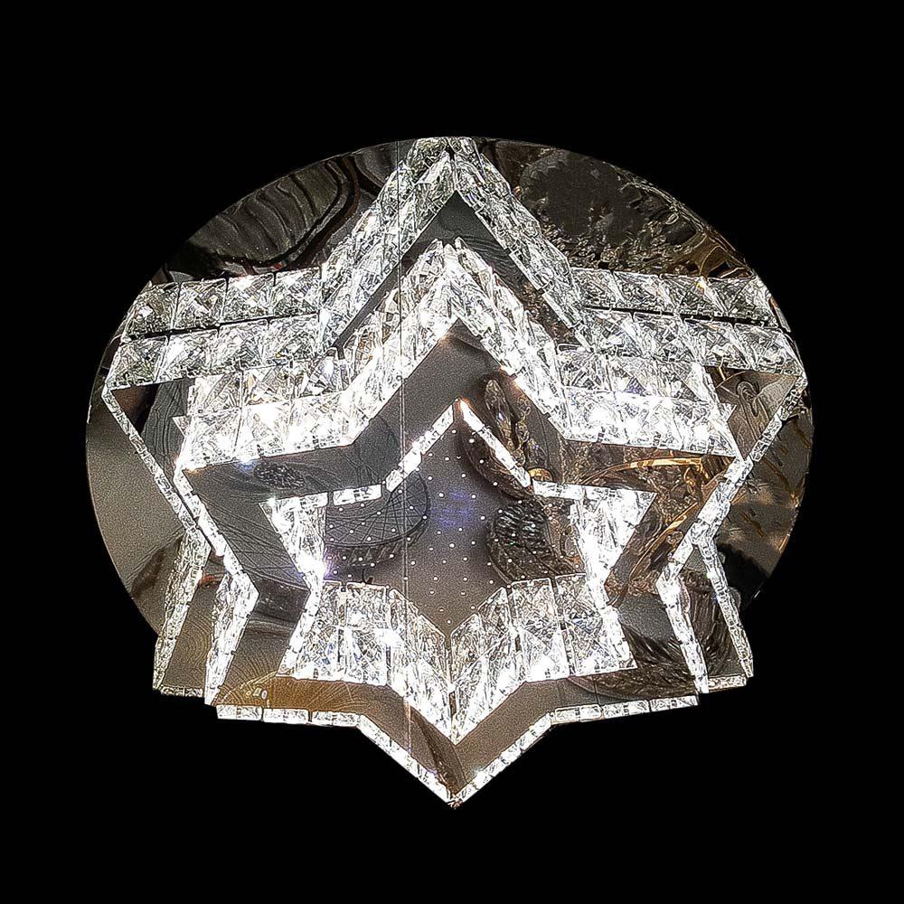 Диодная люстра на потолок с пультом GlassStar фото