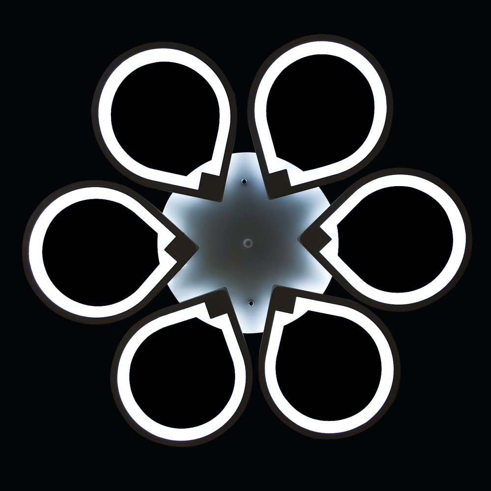диодная люстра со сменой цвета освещения фото