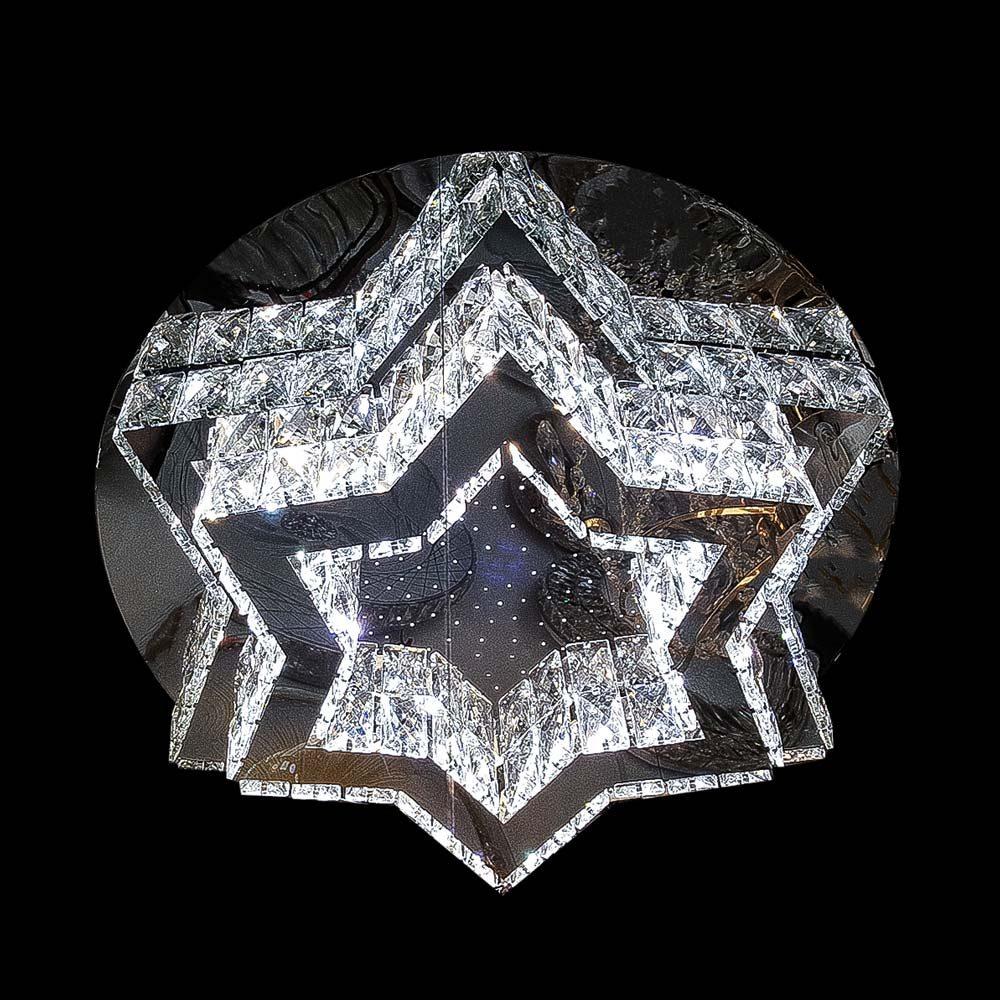 Хрустальная люстра на потолок в форме звезды фото
