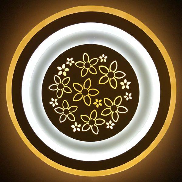 круглая диодная люстра плоская фото