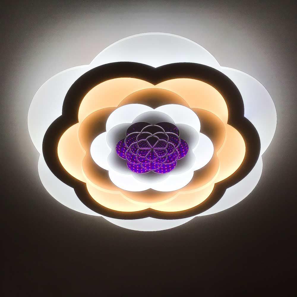 Люстра светодиодная pink-flower фото