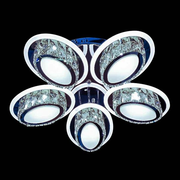 Потолочный лед светильник хрустальный фото