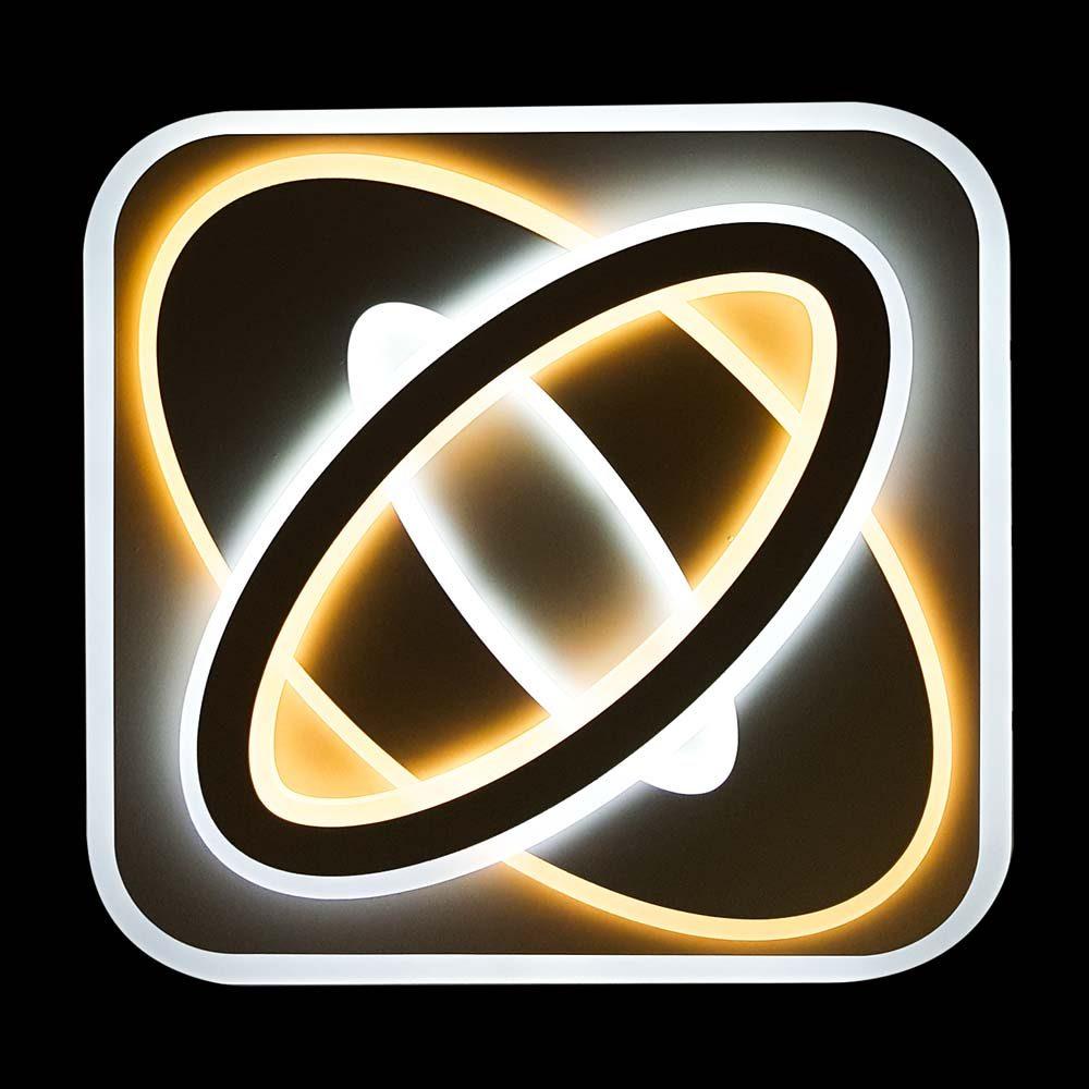Светодиодная люстра квадратная геометрия Proton фото