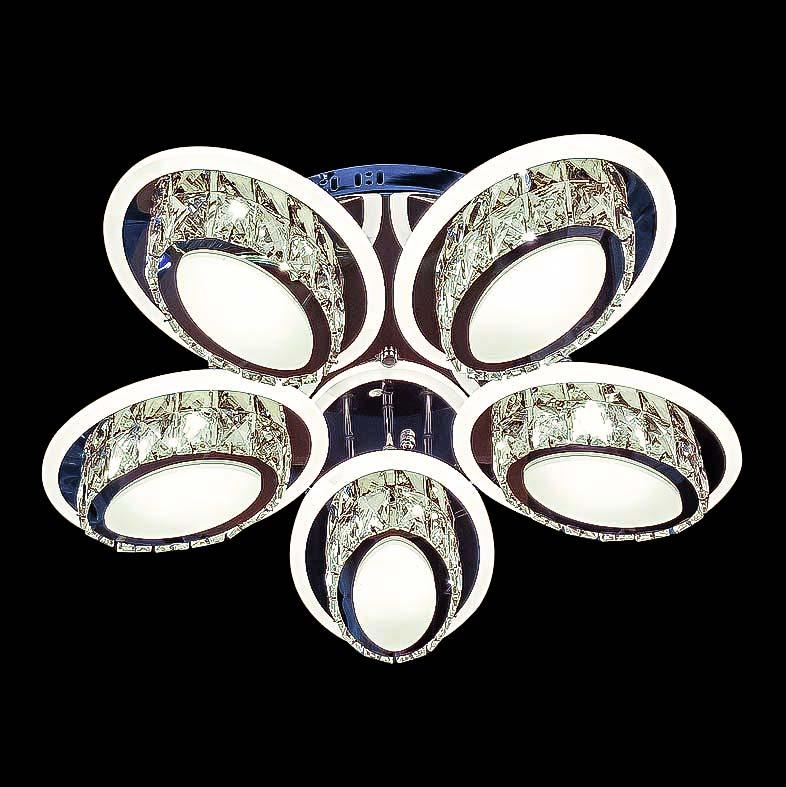 Светодиодная потолочная люстра с хрусталем Sentore фото