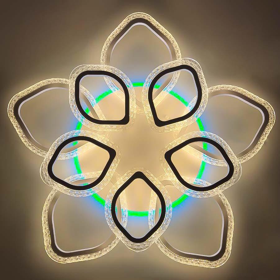 Лепестки светодиодный люстра 10 RGB фото