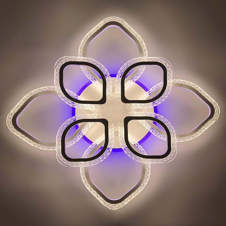 Лепестки светодиодные люстра 8 RGB фото
