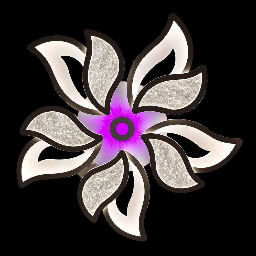 Люстра цветок диодная разноцветная фото
