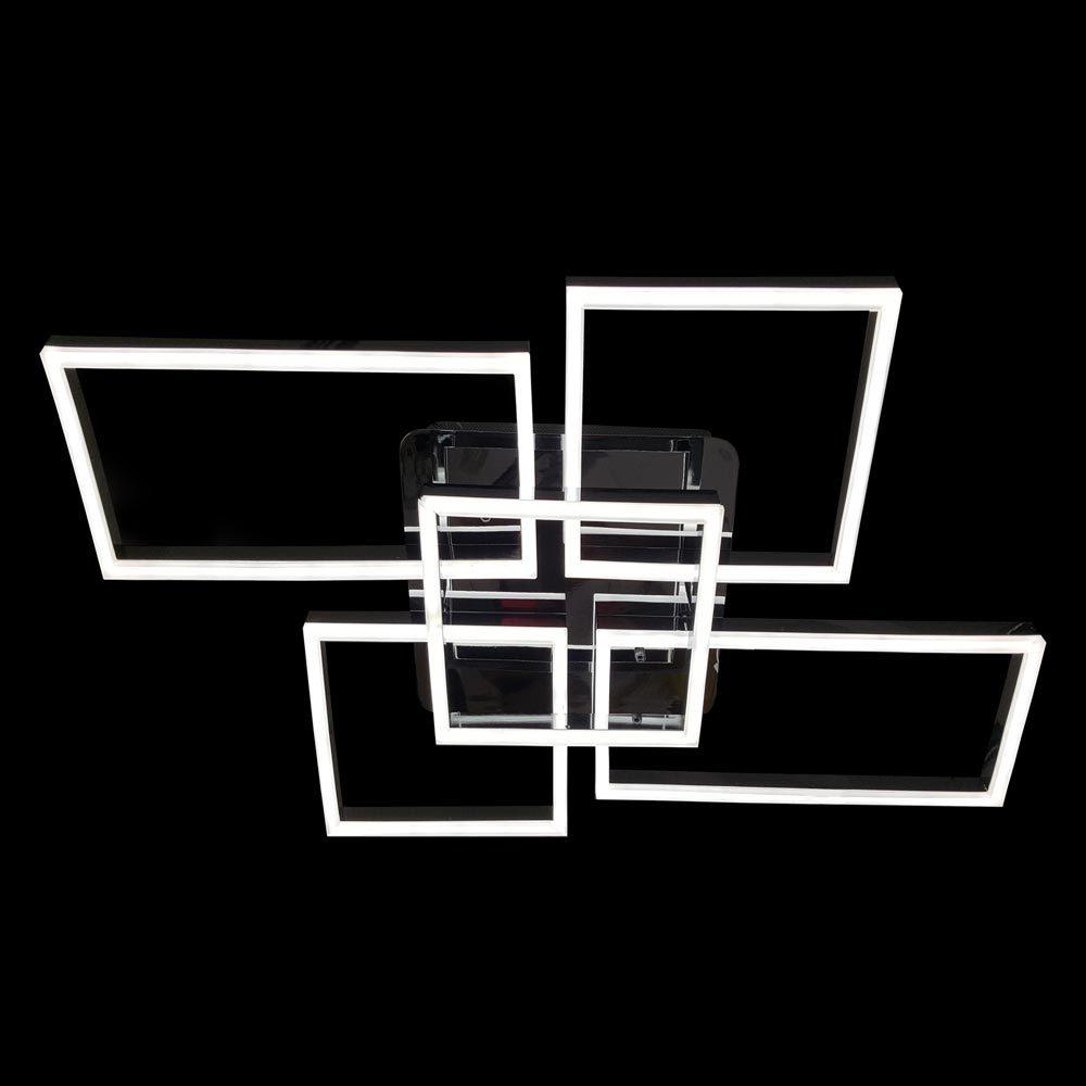 Люстра лед хай-тек прямоугольники с пультом фото