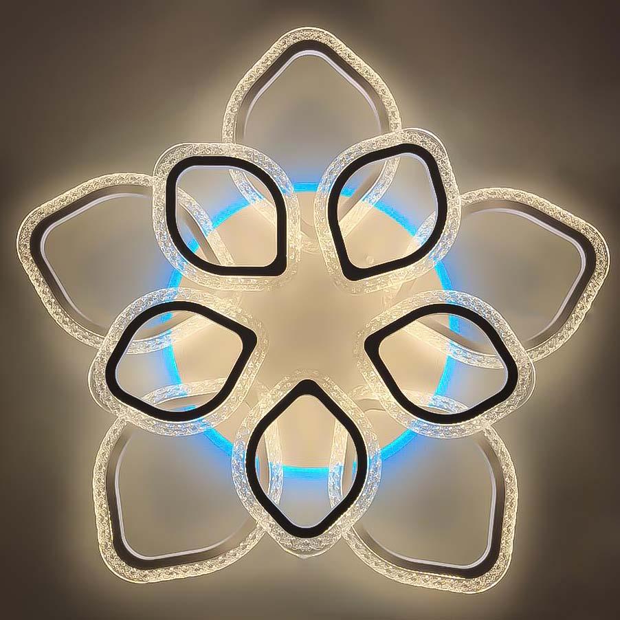Люстра потолочная диодная Petals NEW RGB фото