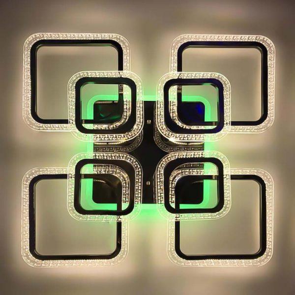 Люстра потолочная диодная Squares-8 RGB фото