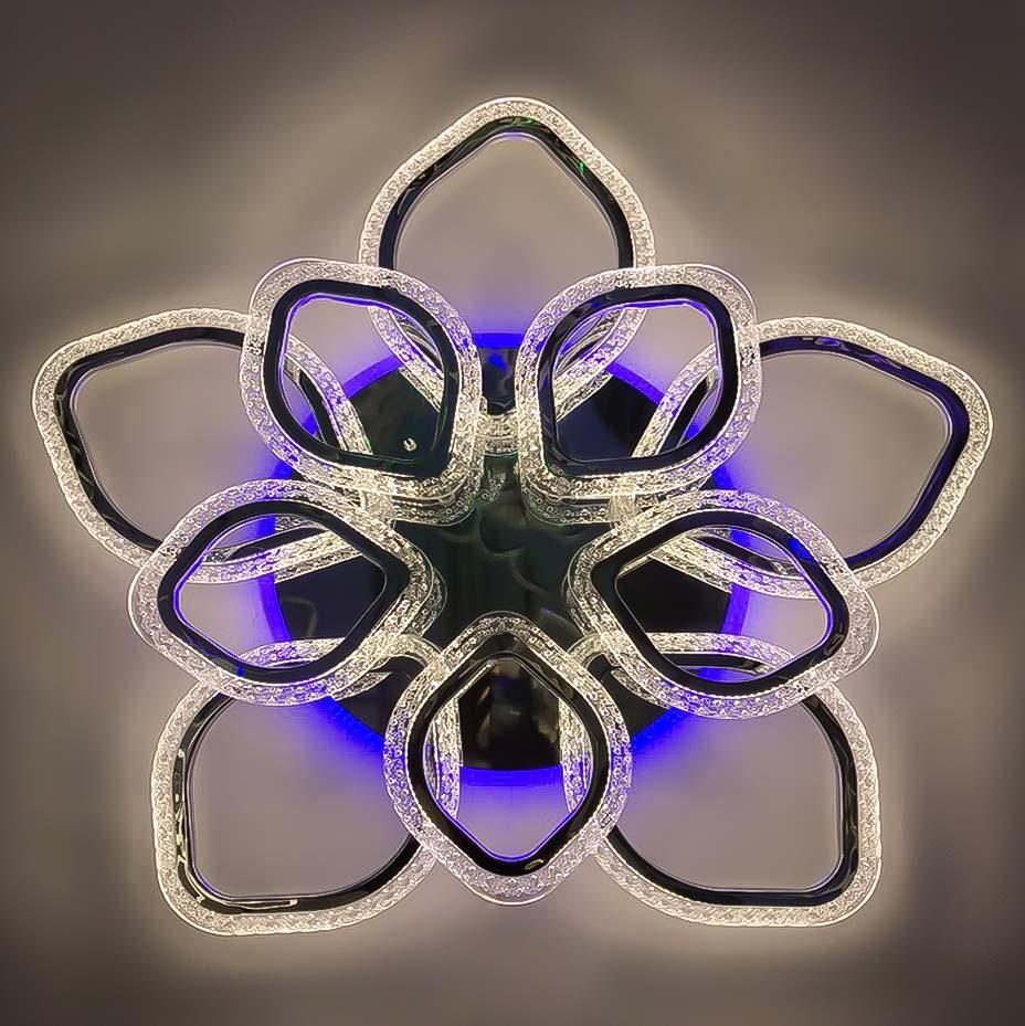 Люстра petals черный RGB фото