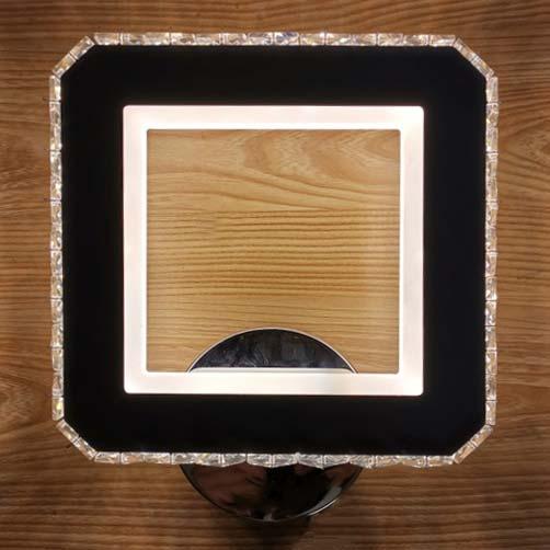 Светодиодный бра хром Квадрат фото