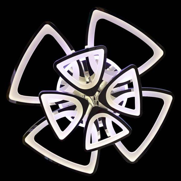 Треугольная лед люстра с пультом и подсветкой фото