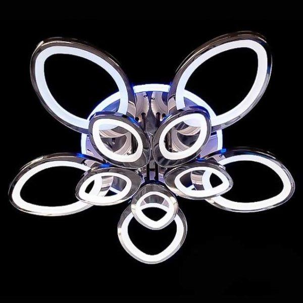 Лед цветок люстра хром 10 лепестков фото