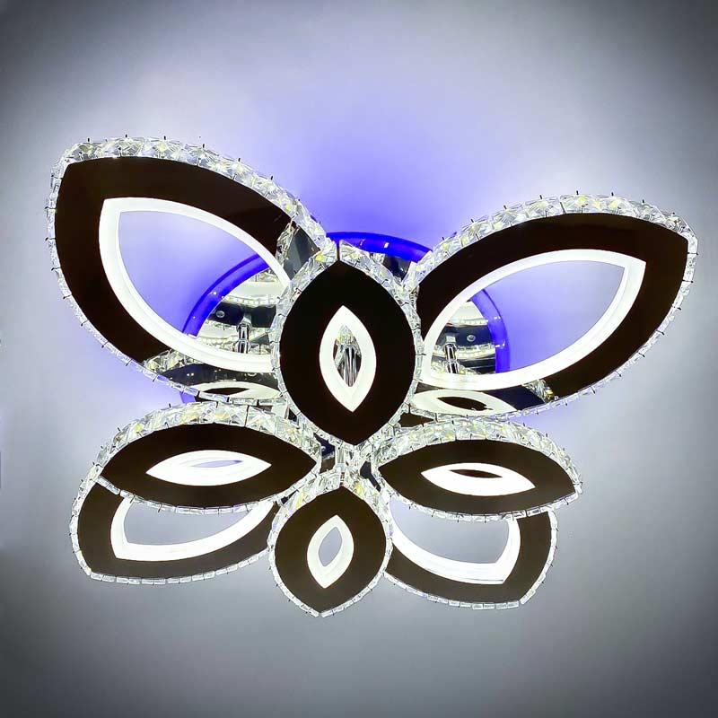 Люстра LED хрустальная лепестки фото