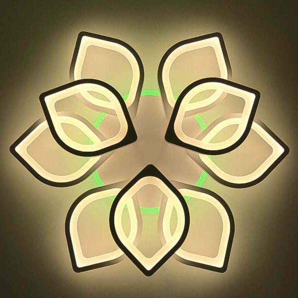 Люстра цветочные лепестки LED фото