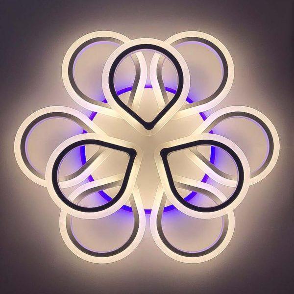 Люстра диодная с RGB подсветкой и пультом Tricky фото