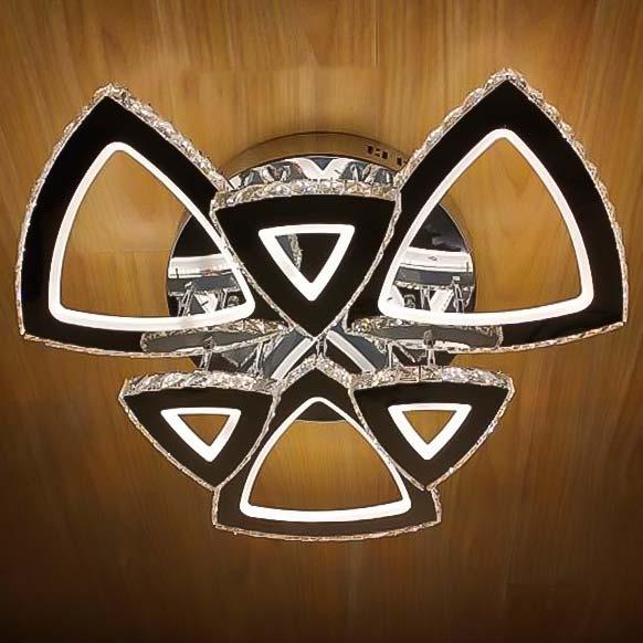 Люстра LED хрустальная треугольники Crystal Triangles фото