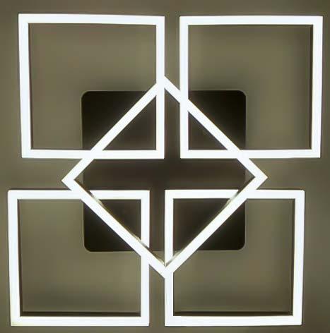 Люстра светодиодные квадраты Gottar фото