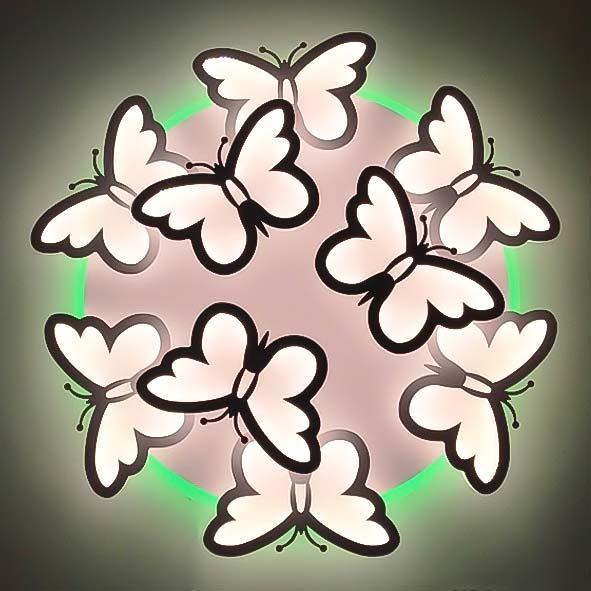 Светодиодная люстра с бабочками Butterflies фото
