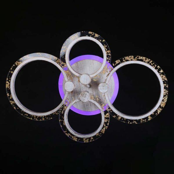 Люстра светодиодная стеклянные кольца Rings 4 фото
