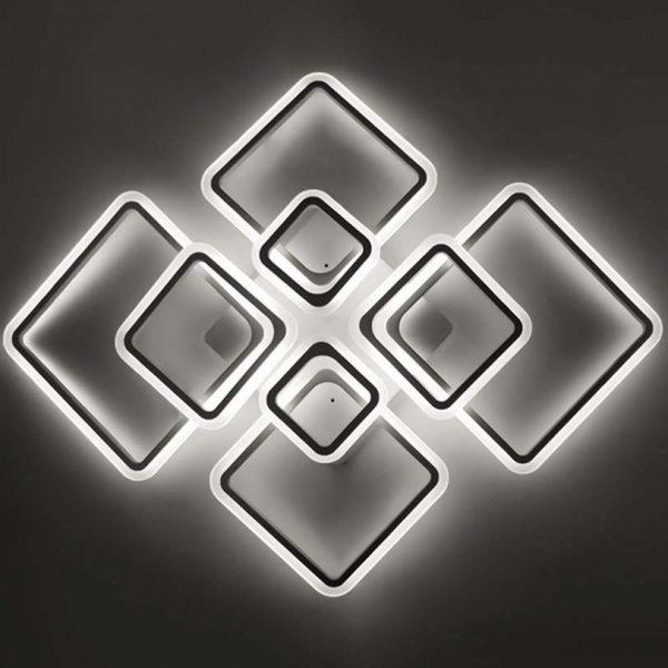 Люстра восемь ромбов Squares New LED 8 фото