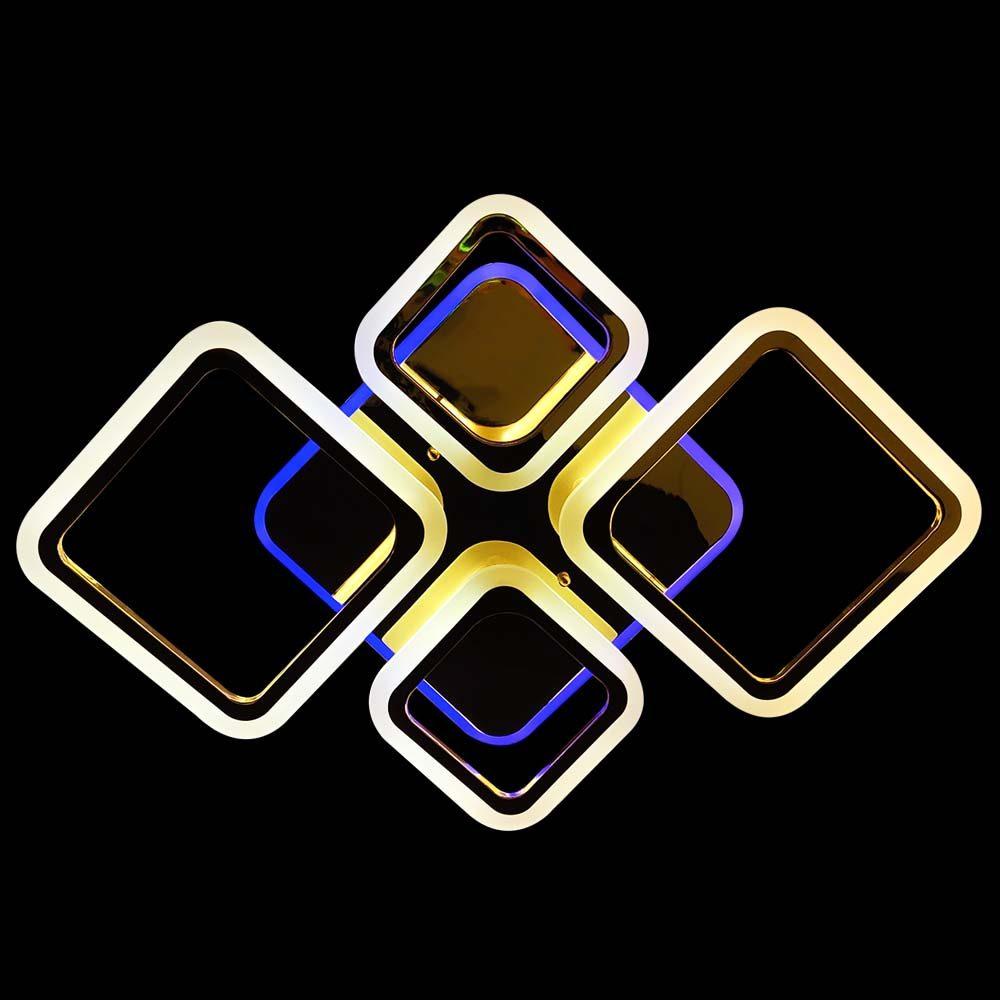 Люстра золотая диодная Revolve фото