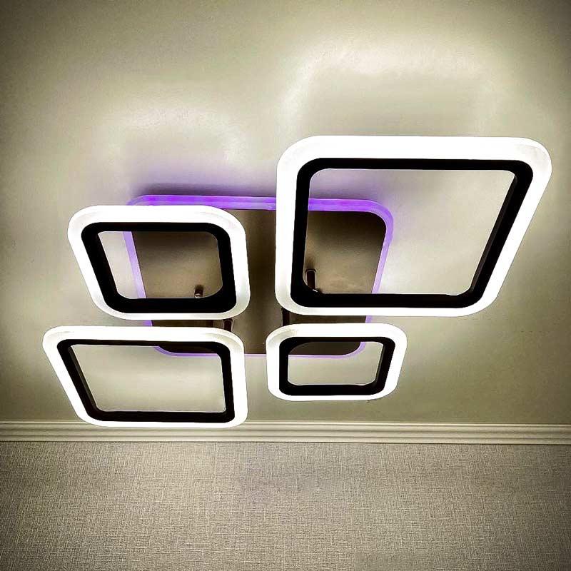 светильник диодный 4 ромба коричневый фото