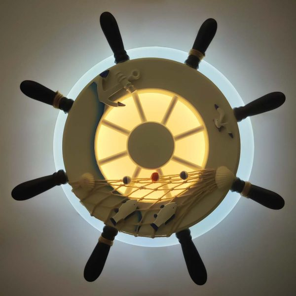 Светильник настенный диодный штурвал фото