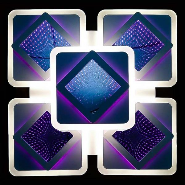 Люстра светодиодная потолочная 3D Squares