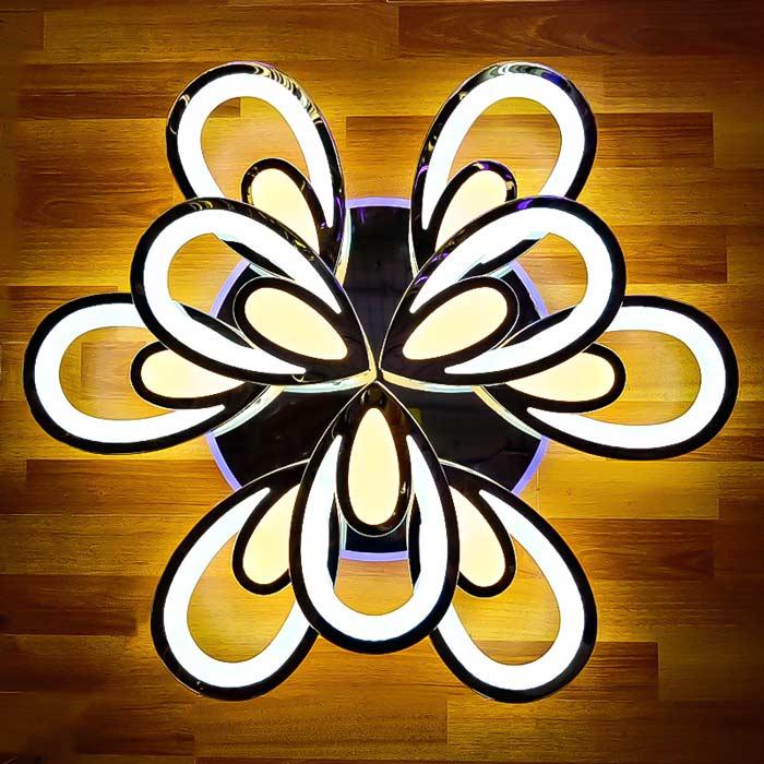 Люстра лед хром цветок 9 фото