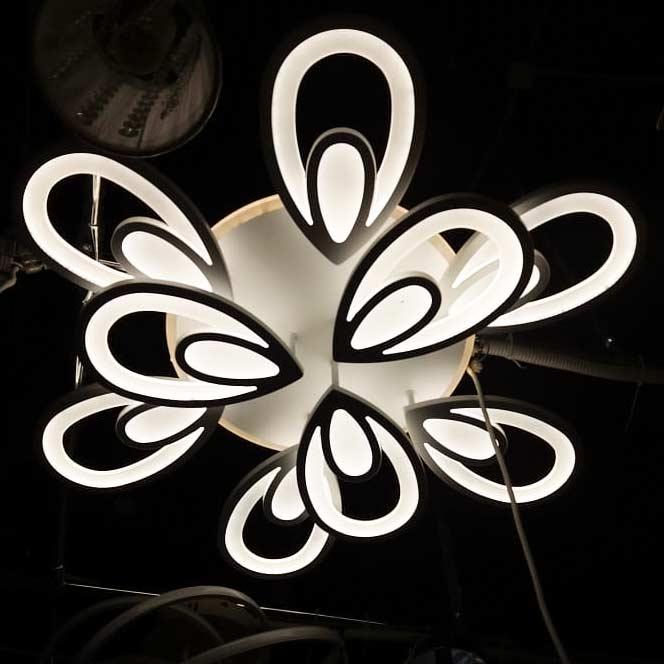 Люстры chromium-flower-9 белая фото
