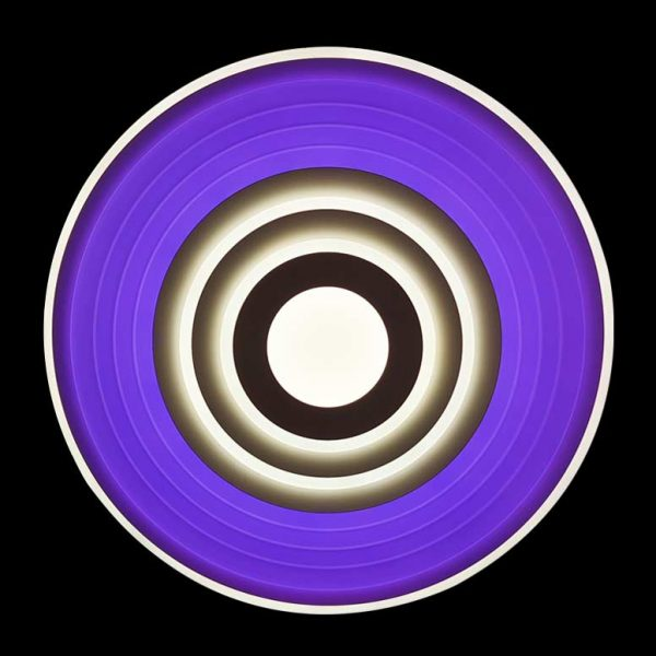 Диодная люстра круг разноцветная RGB Sphere фото