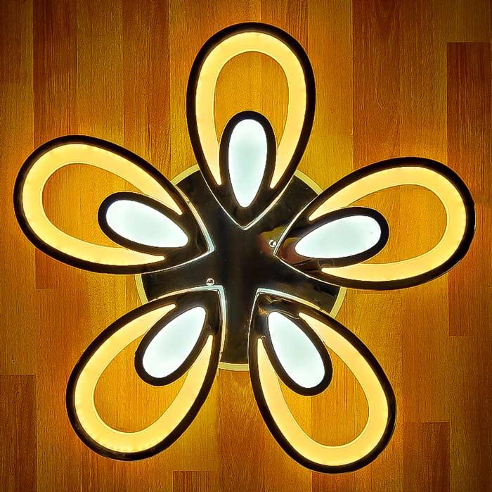 Люстра Flower Хром со смеой цвета фото