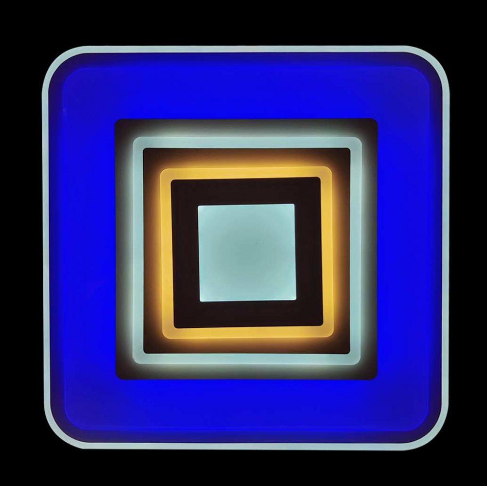 Люстра лед квадрат RGB фото