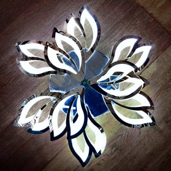 Лед люстра хром цветок Lantana холодный свет фото