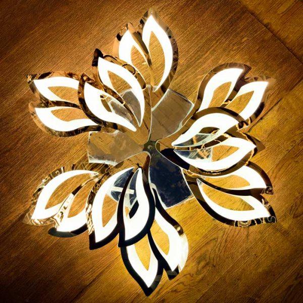 Лед люстра хром цветок Lantana теплый свет фото