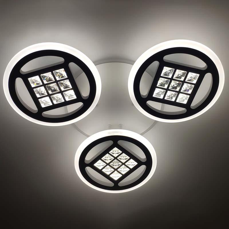 Люстра 3 круга светодиодные с пультом фото