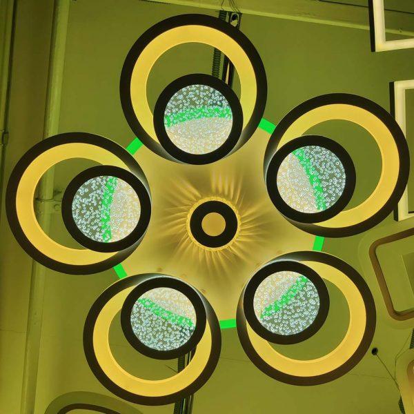 Люстра Crocus зеленая подсветка фото