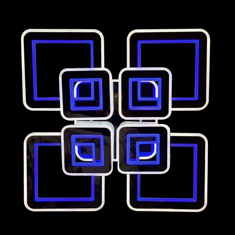 люстра хром квадраты Crystallium 8 фото