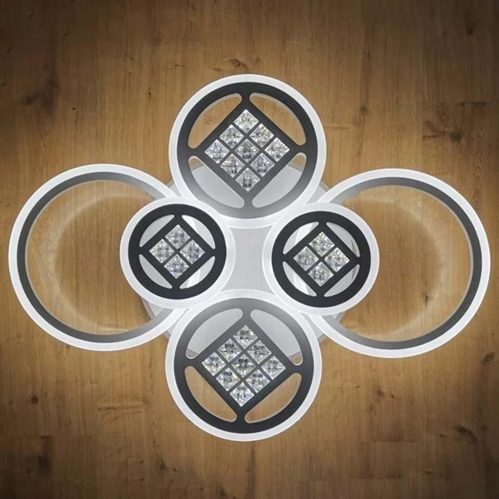 люстра 6 кругов с хрусталем Rings XT фото