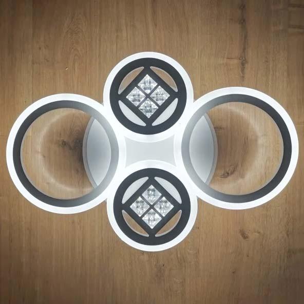 люстра 4 круга с хрусталем Rings XT фото
