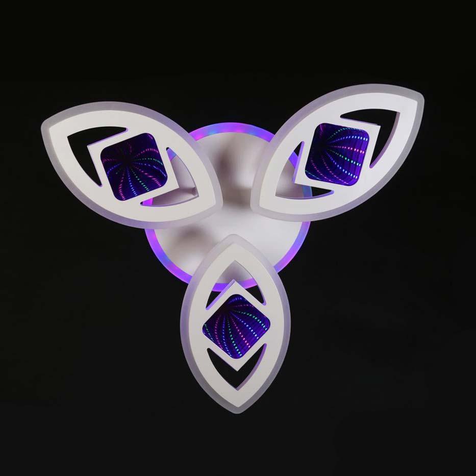 Люстра лед 3D 3 лепестка фото