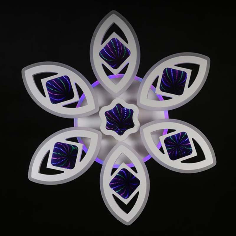 Люстра лед 3D 6 лепестков фото