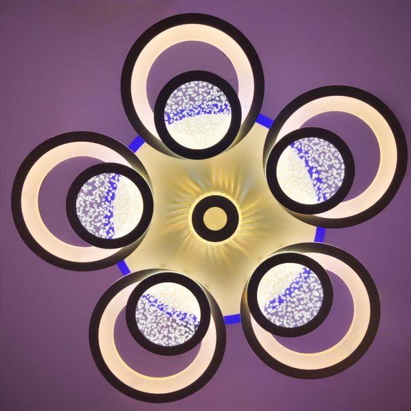 Люстра с пультом и цветной подсветкой Crocus фото